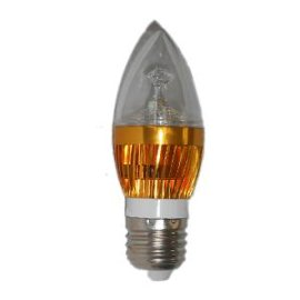 LED蜡烛灯603金色灯体功率3W