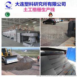 **塑料研究所塑料土工格栅生产线