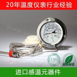 全不锈钢压力式温度计,船用耐震温度计