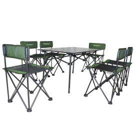 伯顺S8039,铝桌七件套,户外便携折叠组合套装,
