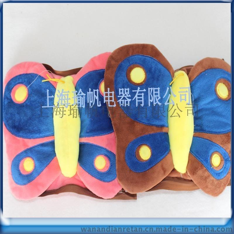 厂家直销晚安**充电防爆蝴蝶系列电暖宝 立体卡通暖手袋 电热水袋