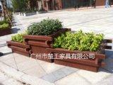 戶外街道木塑花箱 園林塑木花槽 塑木花池廠