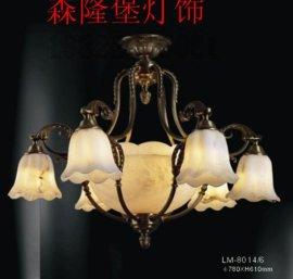 復古花苞形吊燈 咖啡廳別墅音樂吧簡約大氣水晶吊燈 城堡復古吊燈