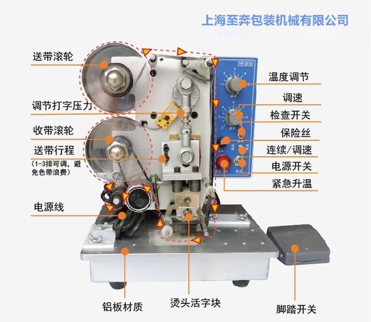 HP-241B电动打码机自动打码机色带打码机 电动色带打码机特价推荐