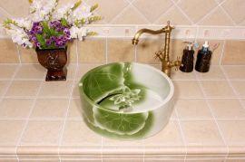 艺术青花瓷台盆 手绘陶瓷洗脸盆