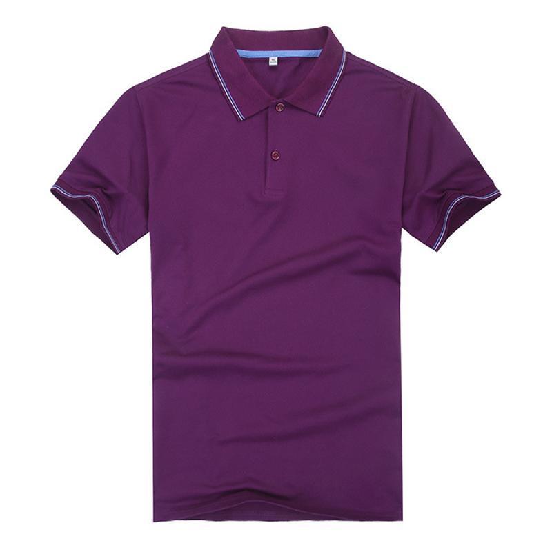 定做工作服男装竹炭纤维男士短袖T恤 翻领男纯色  透气13色可选