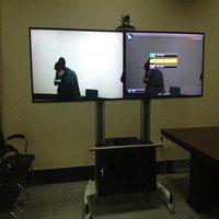 NB支架AVG1800-60-2A双屏铝合金液晶电视移动支架柜