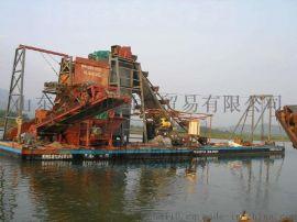 清远河道水库采砂铁砂船  自卸式运沙船