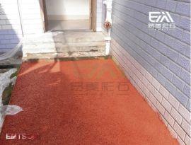 彩色水泥透水混凝土地坪路面不積水施工材料均可