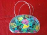 彩色透明PVC拉鍊袋 時尚手提包包