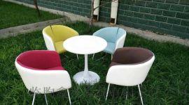 北欧双人沙发懒人简约现代迷你沙发休闲奶茶咖啡厅沙发