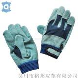 牛皮二层短全皮焊工手套加厚耐磨翻毛皮机械工作手套