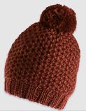 欧美女式流行织纹带球针织帽