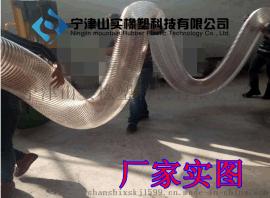 透明PU镀铜钢丝波纹管,吸尘管内径25-500mm,螺旋除尘风管,除尘排尘通风管,除尘镀锌风管