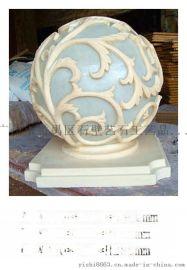 砂岩雕塑灯罩树脂透光灯笼人造石圆球灯罩景观雕花透光灯饰