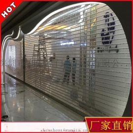 深圳订制水晶卷帘门 电动透明商埔门 水晶侧向卷闸门