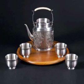 泰国锡器 四君子茶具