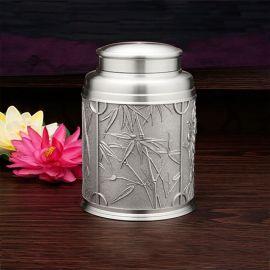 泰国锡器 四君子锡茶罐 商务友情 馈赠 艺术 家居 礼仪 赠礼