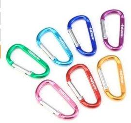 厂家直销优质铝合金5号葫芦形登山扣户外快挂箱包D型爬山扣弹簧钩