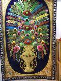 印度丝手工壁挂徽章、金属丝公司企业刺绣挂旗、手绣金属丝壁挂、家居装饰印度丝壁挂