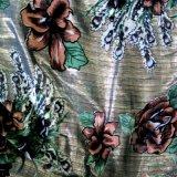 来样定制锦绒和乔其绒围巾披肩烂花印花布料