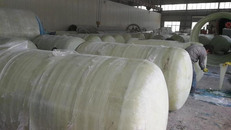 三格式玻璃钢小型化粪池隔油池制作