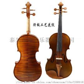 工艺花纹虎纹实木哑光亮光小提琴练习琴考级琴枣木配件