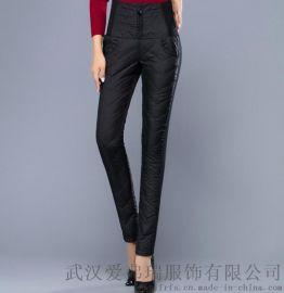 哪里有女装走份市场六未18年冬装新款修身鸭绒裤