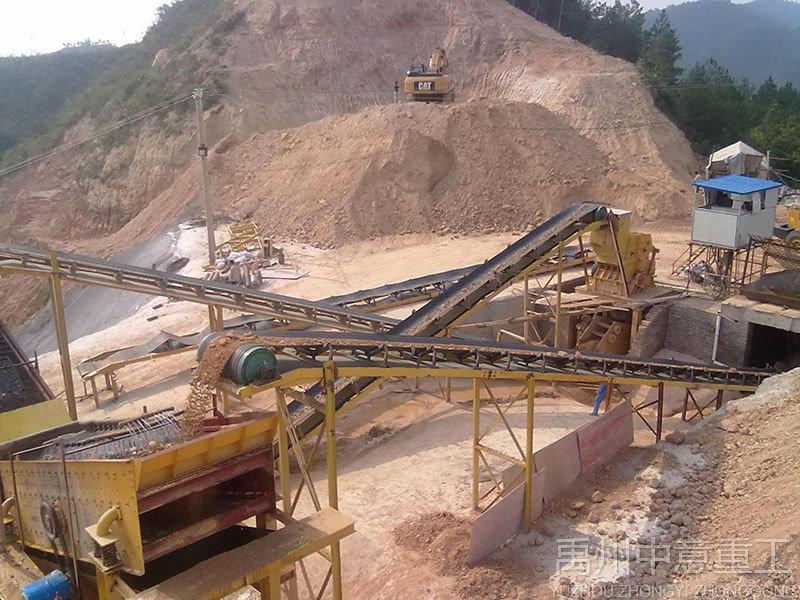 四川用户对大型石料生产线现场实地考察