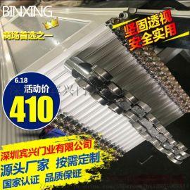 定制**水晶门水晶折叠门铝合金推拉门弧形侧向拉闸门