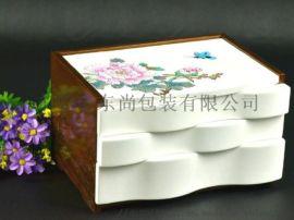 手绘手外饰化妆盒  东尚包装 东尚木业 东尚