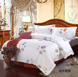 百年新业定做天水酒店床上用品宾馆布草