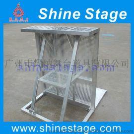 可折叠带台防暴栏,易拆装铝合金防护围栏