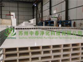 苏州中春净化科技有限公司 批发优质玻镁手工板 A级防火中空玻镁彩钢板 机制中空玻镁彩钢板