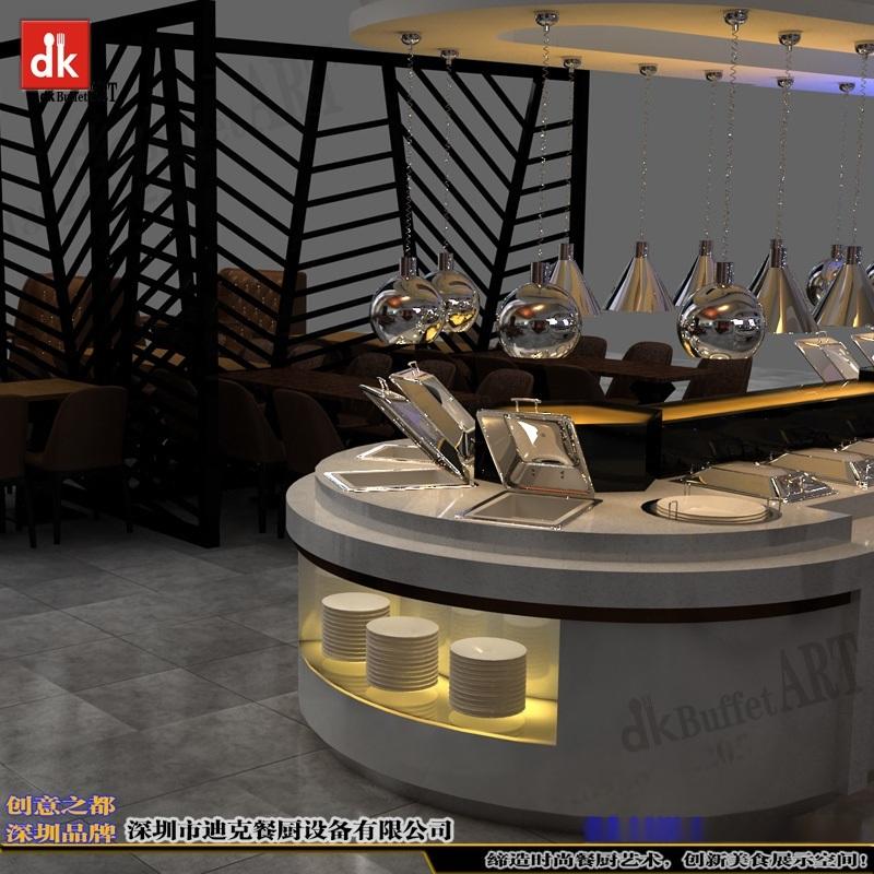 迪克自助餐台定制 布菲台设计 餐台制作安装