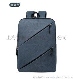 上海定制商务双肩电脑背包公司礼品定制来图打样