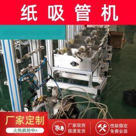 厂家供应全自动纸吸管包装机 单支多支单根纸吸管独立自动包装机