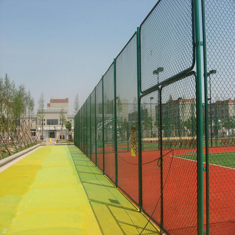 廠家專業供應球場護欄網 組裝圍網 藍球場護欄網 塗塑勾花網