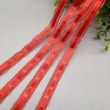 大紅色雪紗提花帶DIY蝴蝶結包裝雪紗間銀線提花織帶