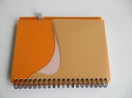 膠套封面筆記本,帶筆插PP封面, YO線圈筆記本