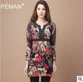 佩曼 2013秋装新款女式纯羊绒桐乡羊绒衫
