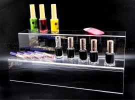 亚克力梯形化妆品展示架 包装瓶 展示盒 化妆品收纳盒 价格