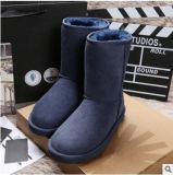 工廠批發 女士經典款羊皮毛一體中筒雪地靴 5825冬季保暖女靴