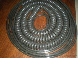 耐高温4芯0.5平方弹簧电缆