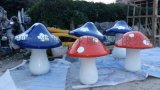 模擬植物雕塑 深圳港城提供玻璃鋼蘑菇工藝品規格; 高30*50*80*100cm