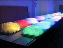 RGB导光板发光模组/七彩LED平板装饰照明/透明/双面发光