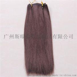 假发厂家直销日韩版棕色长直发化纤发帘假发片 一片式发排 现货