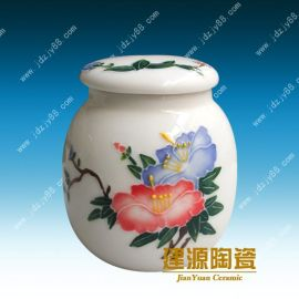 景德镇陶瓷蜜蜂罐厂家 陶瓷食品罐价格 陶瓷密封将军罐