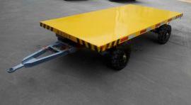 专业平板拖车定制,挖掘机运输平板拖车,托盘厂区平板车