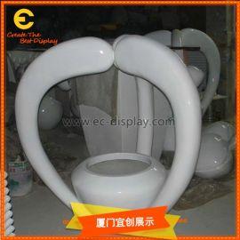 玻璃钢心型搭建花盆 **创意花缸花盆 玻璃钢雕塑制作厂
